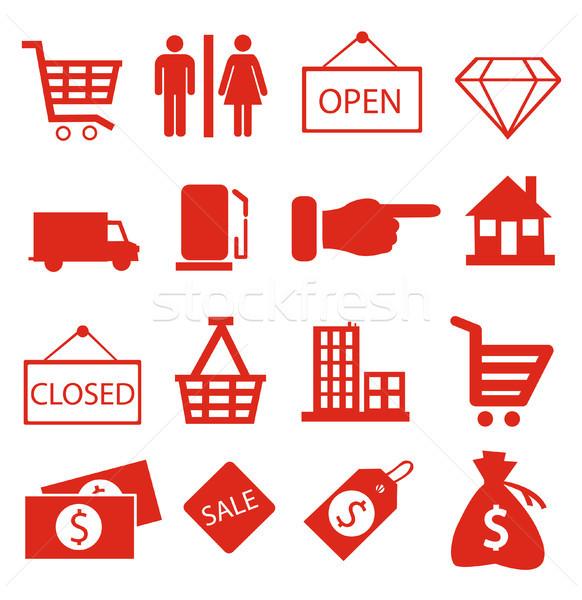 Shopping icons vector Stock photo © nezezon