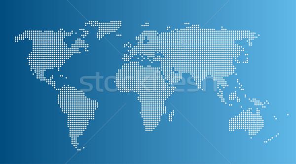 Soyut bilgisayar grafik dünya haritası şehir dizayn Stok fotoğraf © nezezon