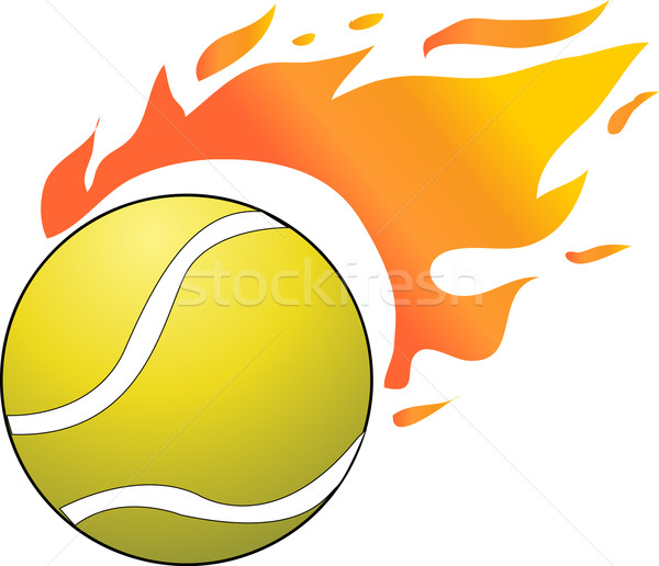 Vector sport tennisbal brand Stockfoto © nezezon