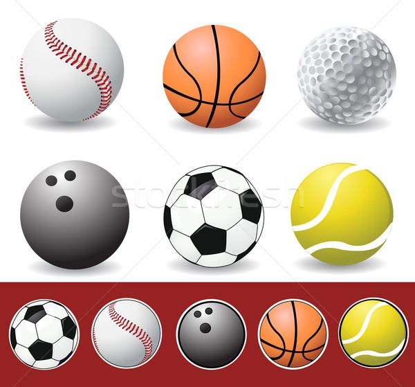 Vektör spor futbol tenis beysbol Stok fotoğraf © nezezon