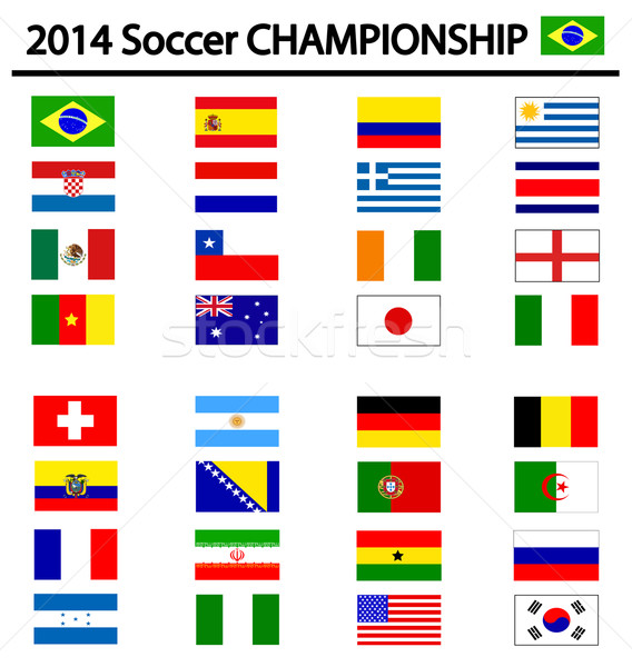 Futebol campeonato 2014 fundo grupo copo Foto stock © nezezon