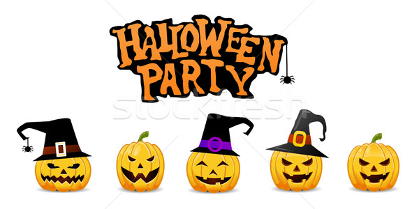 Halloween Party Background with Pumpkins  Stock photo © nezezon