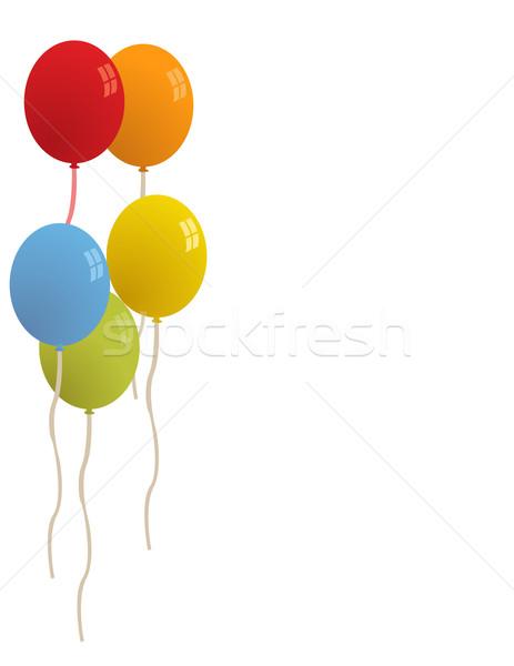 Stockfoto: Ballonnen · partij · vector · licht · verjaardag · schoonheid