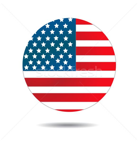 USA zászló vektor kék csillag retro Stock fotó © nezezon