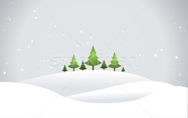 Christmas Landscape Stock photo © nezezon