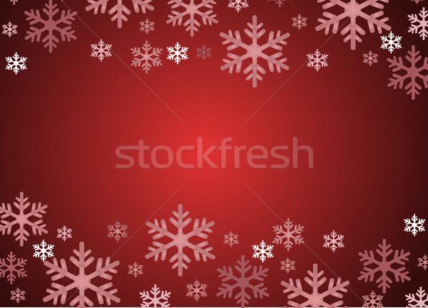 Flocos de neve arte fundo gelo branco natal Foto stock © nezezon