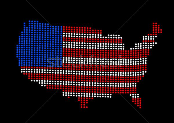 Сток-фото: США · карта · Мир · цвета · Алабама · Аризона