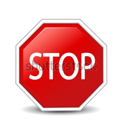 Vector illustration of Stop sign  Stock photo © nezezon