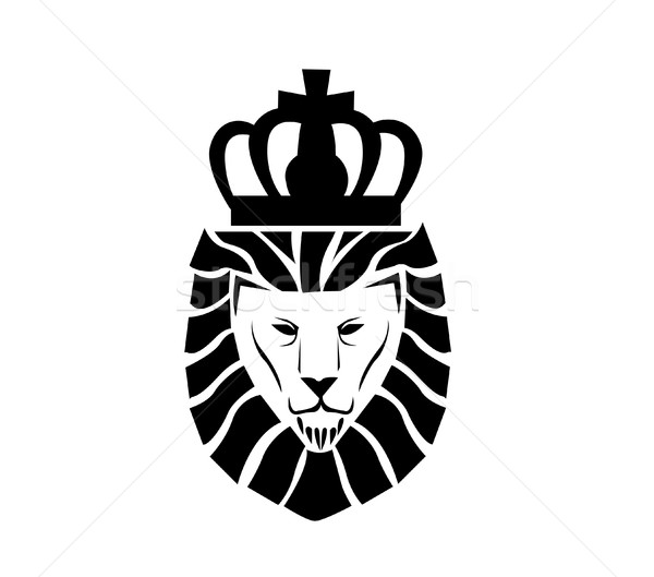 лев лице логотип животного роскошь царя Сток-фото © nezezon