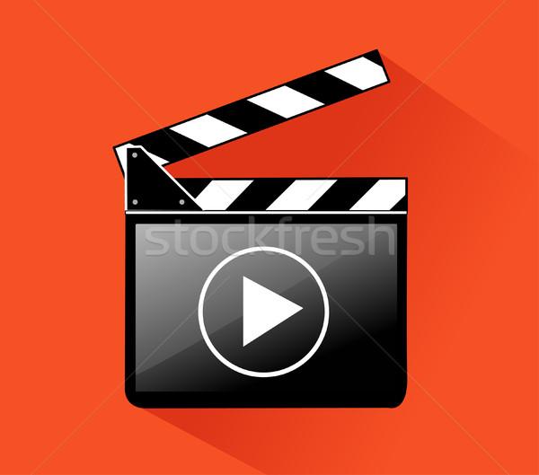 Bordo film industria film schermo video Foto d'archivio © nezezon
