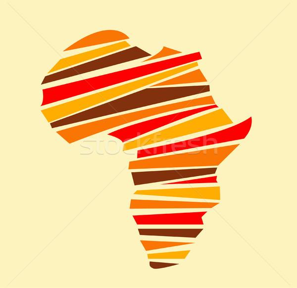 Africa mappa mondo terra paese terra Foto d'archivio © nezezon