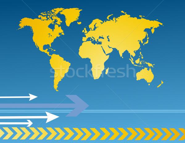 世界地図 世界中 光 技術 スペース ストックフォト © nezezon