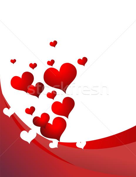 Retro coração amor abstrato fundo quadro Foto stock © nezezon