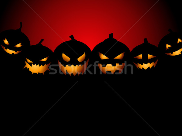 Halloween buli tökök arc terv éjszaka Stock fotó © nezezon