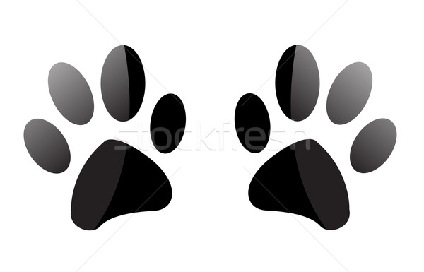 Paw Prints  Stock photo © nezezon