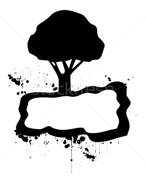 Vector illustration of a modern grunge nature Stock photo © nezezon