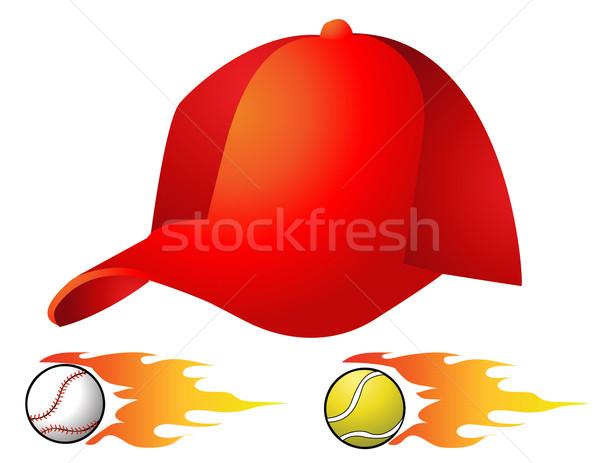 Zdjęcia stock: Hat · sportu · mężczyzn · wykonywania · kask · mężczyzna