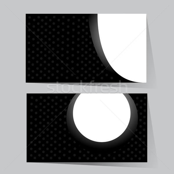 名刺 セット デザイン 背景 芸術 レトロな ストックフォト © nezezon