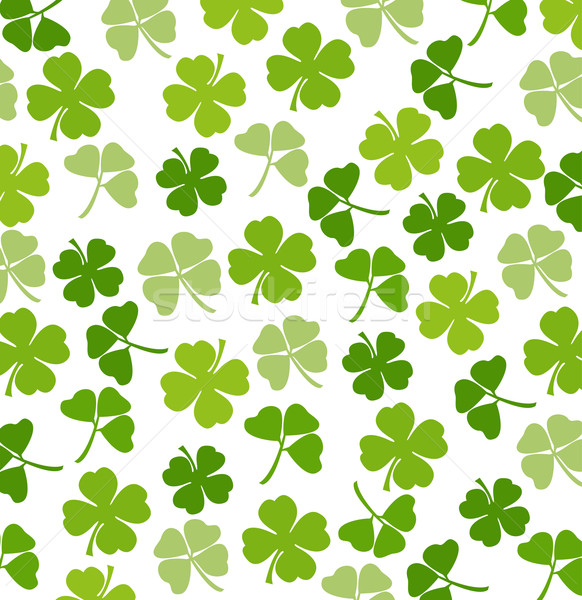 St. Patrick's day vector background with shamrock Stock photo © nezezon