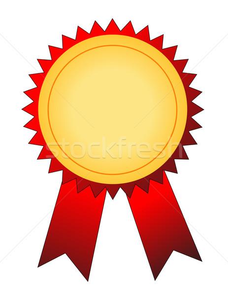 Aranyérem vektor siker szalag játékok győzelem Stock fotó © nezezon