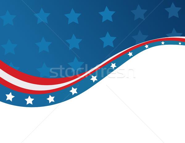 USA zászló stílus vektor kék piros Stock fotó © nezezon