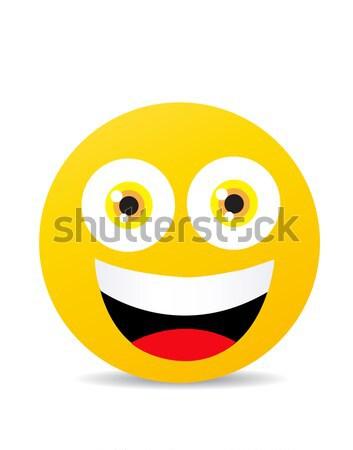 Moderne Geel lachend gelukkig glimlach gezicht Stockfoto © nezezon