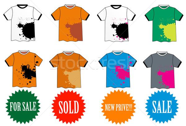 Elegante tshirt projeto vetor moda compras Foto stock © nezezon