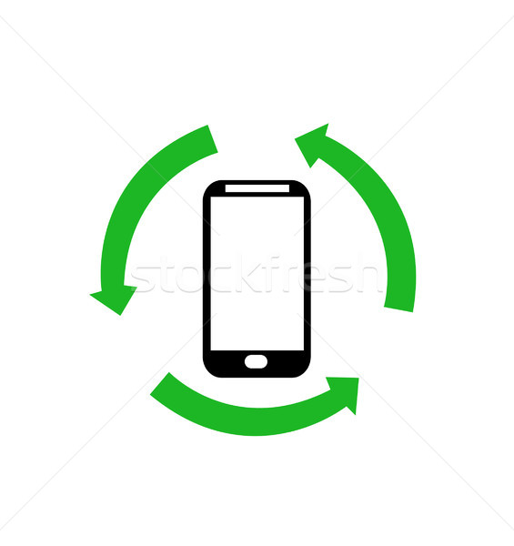 Smartphone icona computer sfondo web mobile Foto d'archivio © nezezon