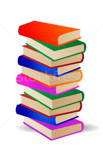 colored books  Stock photo © nezezon