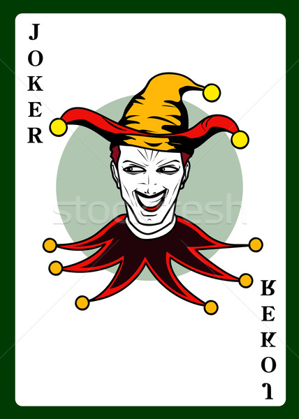 Joker playing card Stock photo © nezezon