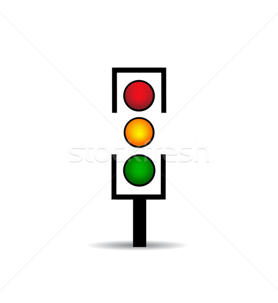 traffic light icon  Stock photo © nezezon