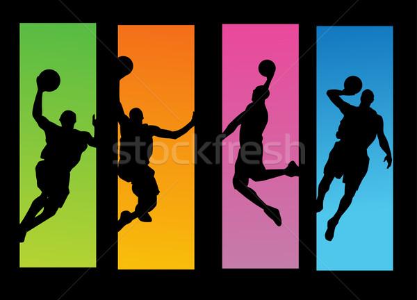 バスケットボール プレーヤー デザイン フィットネス スポーツ 男性 ストックフォト © nezezon