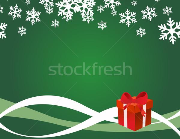 Рождества настоящее окна бумаги дизайна Сток-фото © nezezon