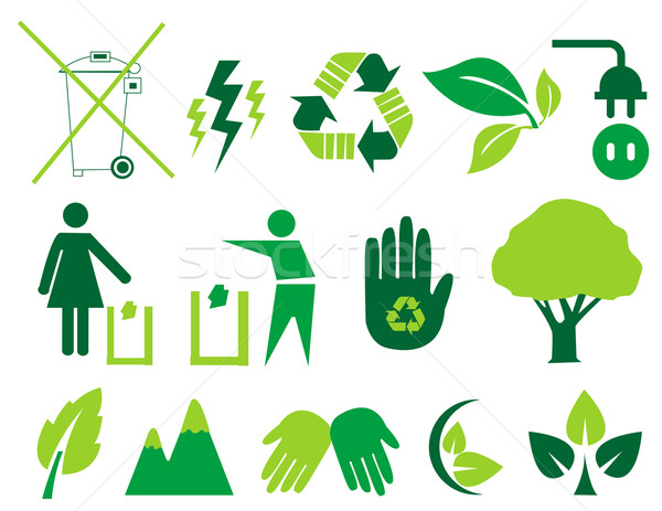 Vector environmental icons and design elements Stock photo © nezezon