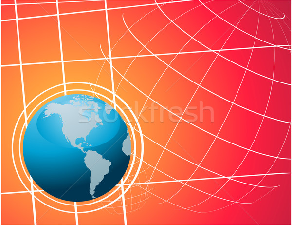 世界 世界中 ベクトル 地図 ボール アフリカ ストックフォト © nezezon