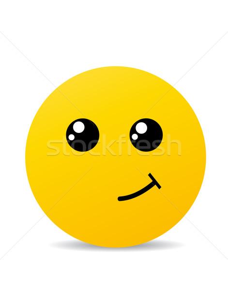 Moderno giallo ridere felice sorriso faccia Foto d'archivio © nezezon