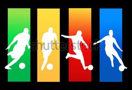 basketball business card and poster Stock photo © nezezon