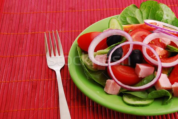 Delicioso legumes frescos comida saúde tabela Óleo Foto stock © nezezon