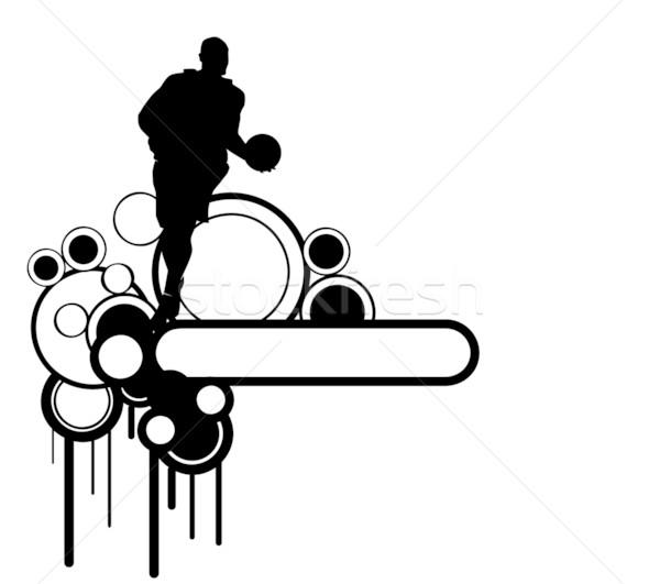 フィットネス スポーツ ジャンプ エネルギー シルエット ストックフォト © nezezon