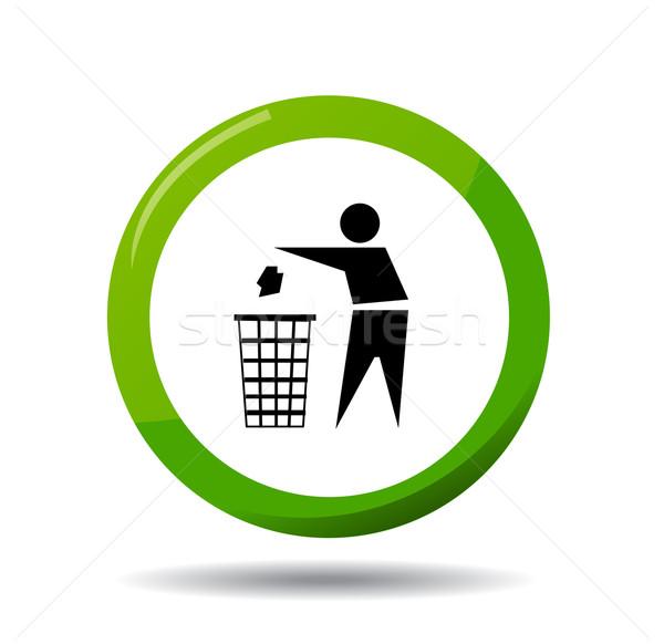 Niet vector teken groene informatie schone Stockfoto © nezezon