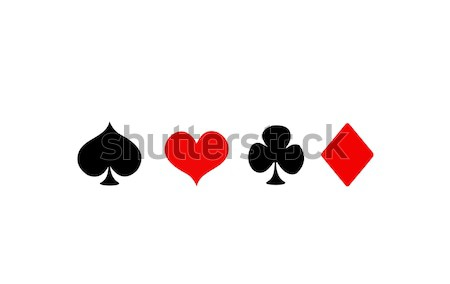 Vector Playing Card Suit Icon Symbol Set Stock photo © nezezon