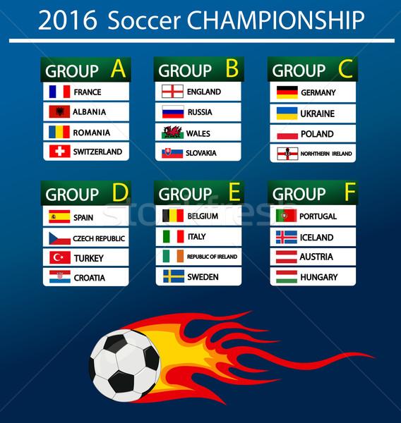 Europeu futebol campeonato 2016 França grupos Foto stock © nezezon