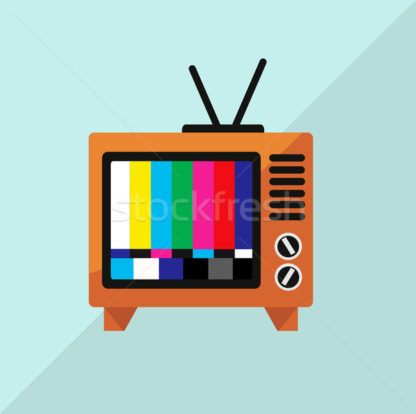 TV Icon Vector Illustration  Stock photo © nezezon