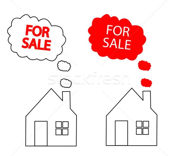 house for sale Stock photo © nezezon