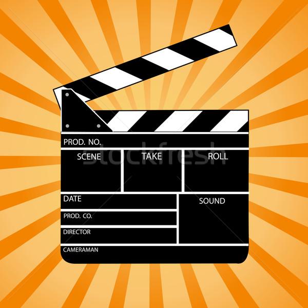 Filme conselho cinema branco cortar diretor Foto stock © nezezon