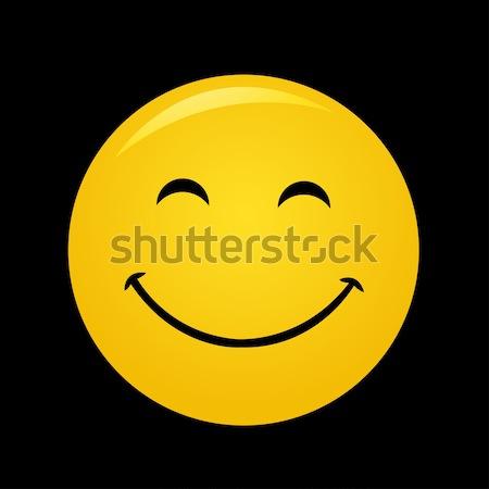 Foto d'archivio: Moderno · giallo · ridere · felice · sorriso · segno