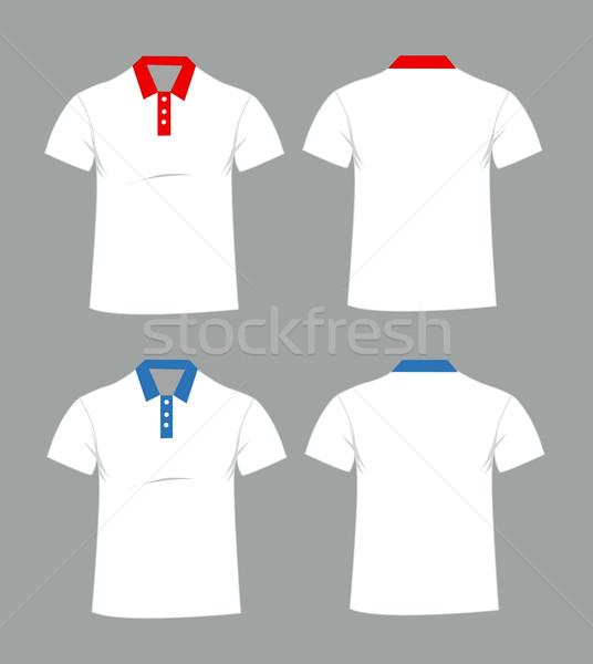 Blank t-shirt template. Front and back Stock photo © nezezon
