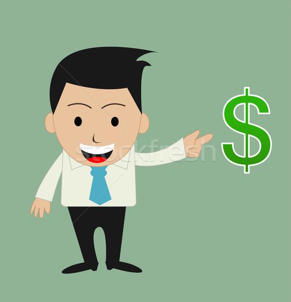 Vicces rajz iroda üzletember férfiak állás Stock fotó © nezezon