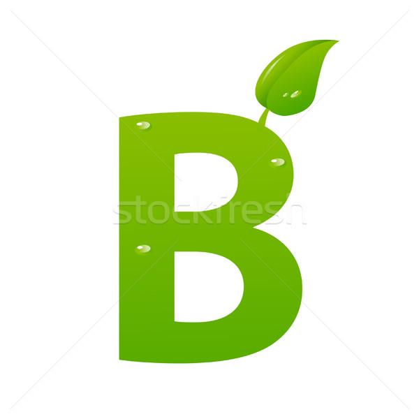 Verde eco lettera vettore primavera iscritto Foto d'archivio © nezezon