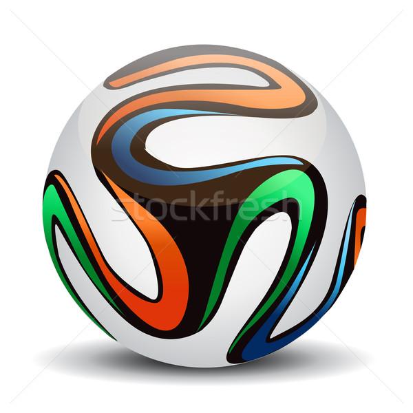 Officieel bal 2014 voetbal sport ontwerp Stockfoto © nezezon
